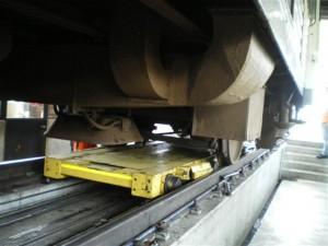 tour en fosse du site de maintenance TER de Trappes
