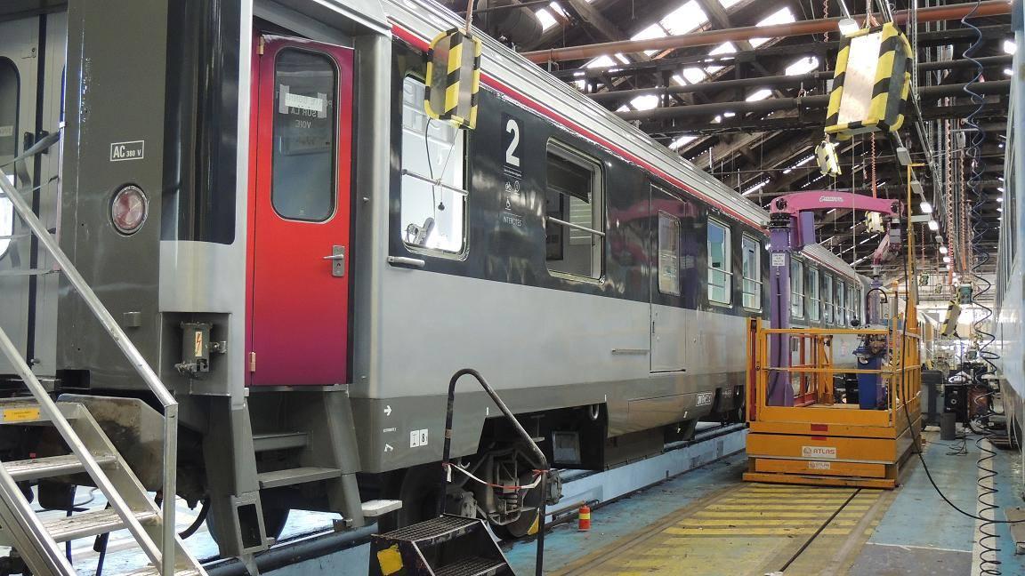 Visite du centre de maintenance industrielle de la SNCF à Périgueux