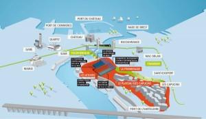 Le téléphérique de Brest pourrait être le 3e transport urbain sur cable à voir le jour en France, après le Funiculaire de Montmartre et le téléphérique de Grenobles