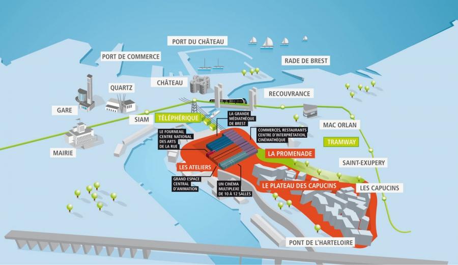 Brest : incident de maintenance sur le téléphérique