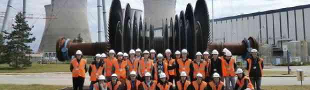 La centrale nucléaire de Bugey reçoit la visite d'étudiants en BTS Maintenance